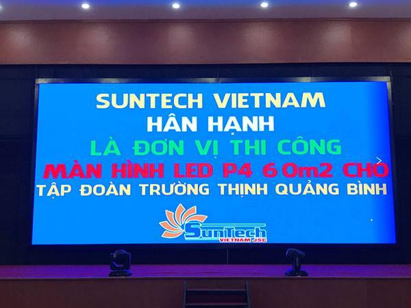 Màn hình LED P4 – Tập đoàn Trường Thịnh Quảng Bình