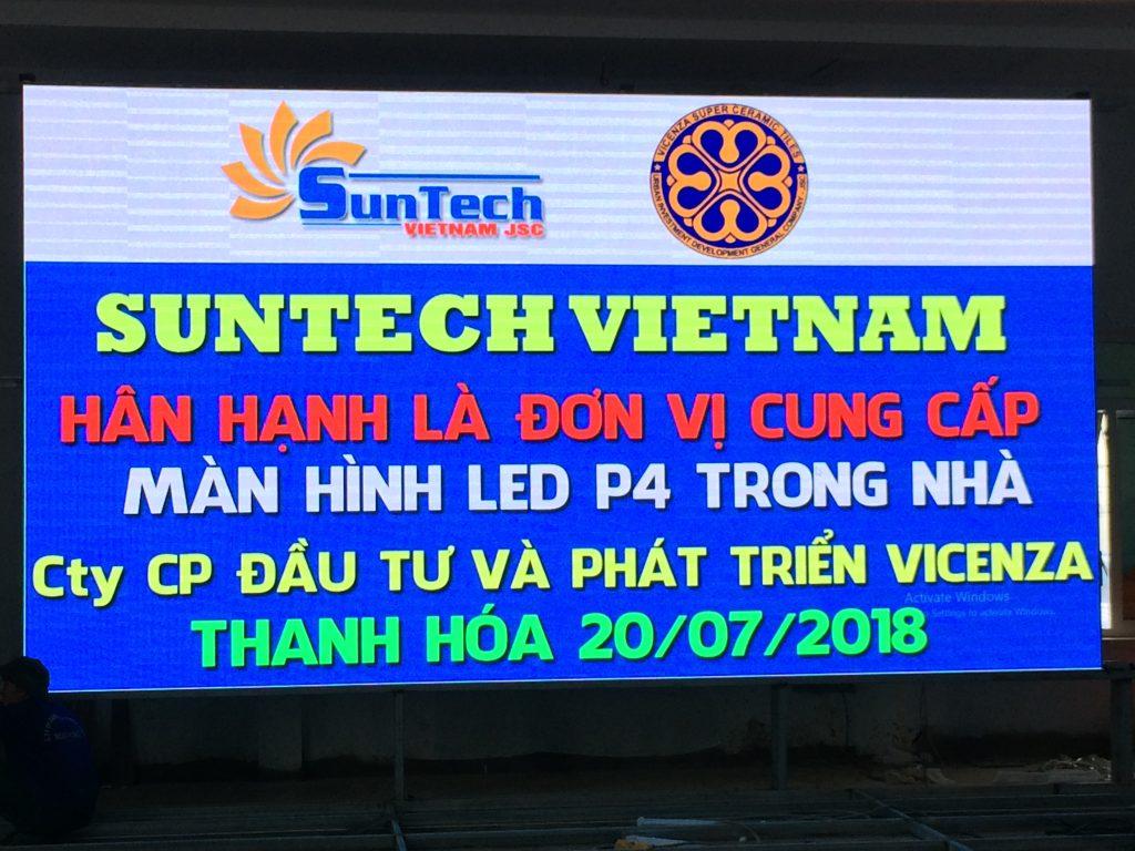 Màn hình LED P4 – VICENZA Thanh Hóa