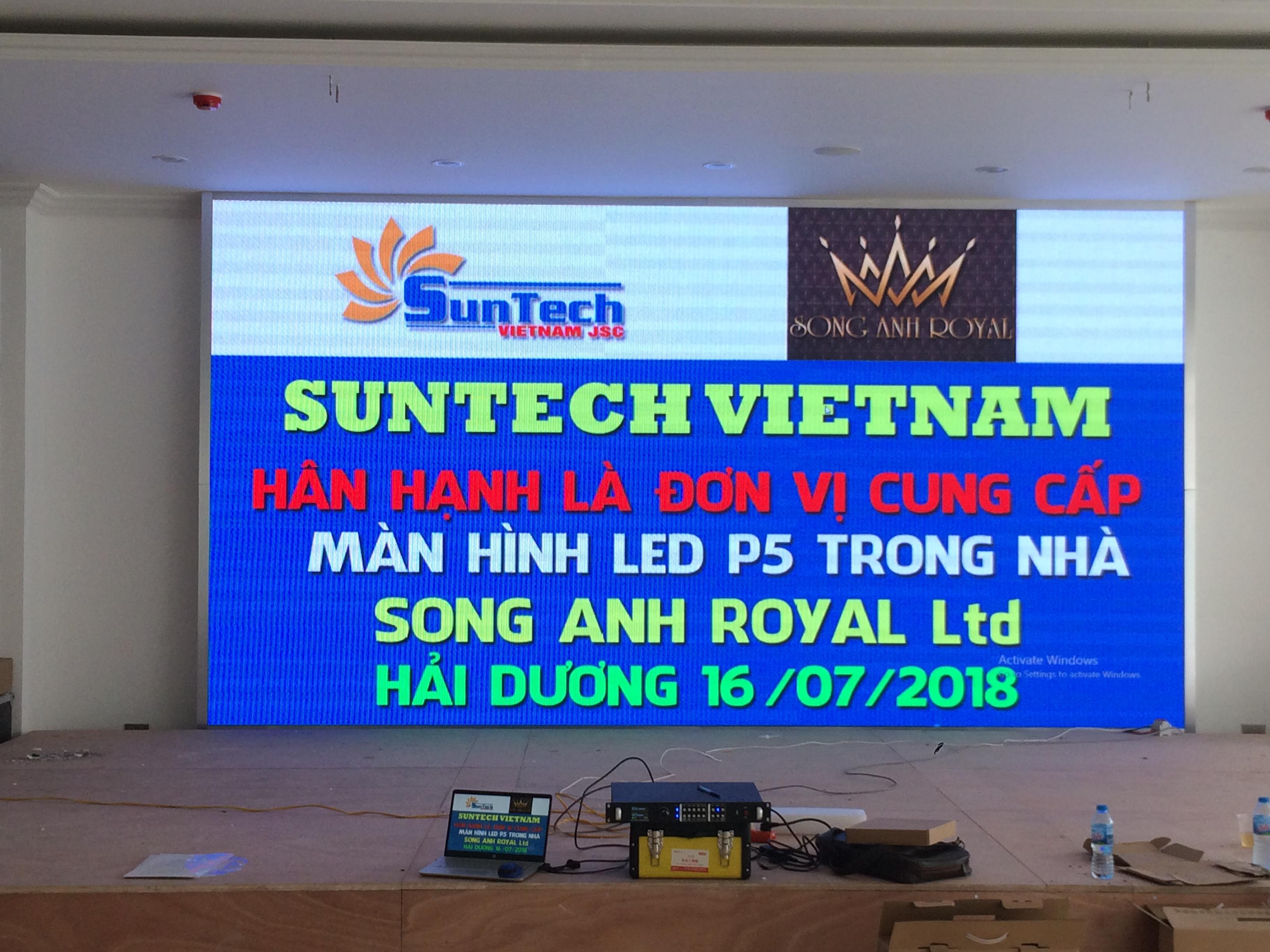 Màn hình led P5 tại Song Anh Royal